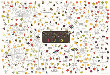 Pop Chart Lab - The Various Varieties of Fruits - Posters - The Planet Collection - Naiise
