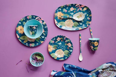 Melamine Dinner Plate with Selma's Fall Flower Print Kitchenware The Children's Showcase