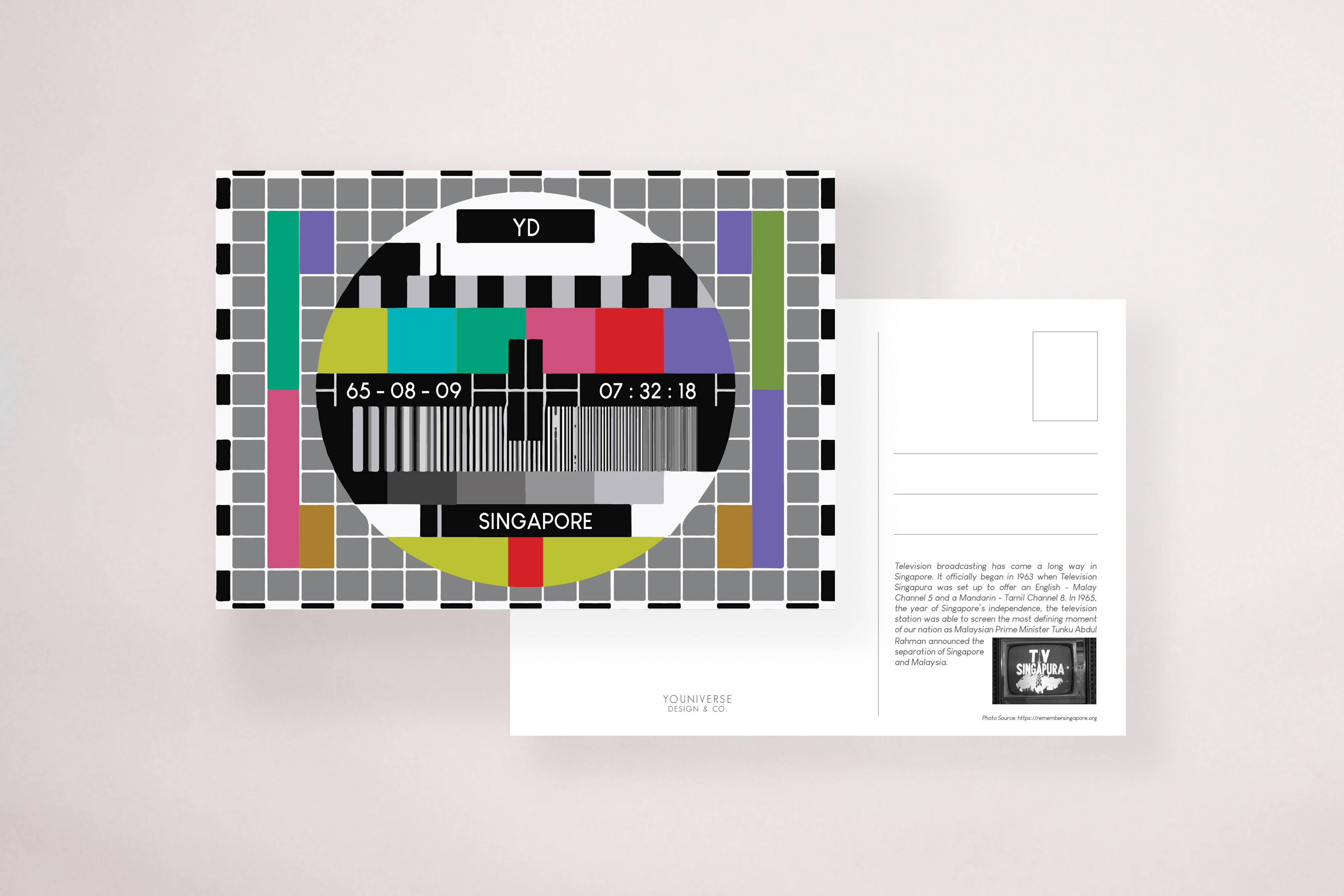 TV Satellite Postcard - Local Postcards - YOUNIVERSE DESIGN - Naiise