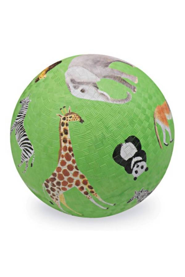 "Crocodile Creek Playball 7"" - Wild Animals Green - Kids Toys - The Children's Showcase - Naiise"