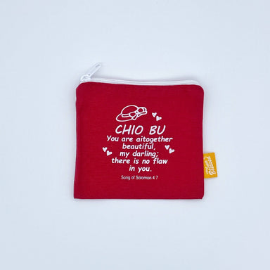 "Coin pouch 11x13cm Chio Bu (""I'm a Singaporean Christian Lah!"" series) - Local Coin Pouches - The Super Blessed - Naiise"