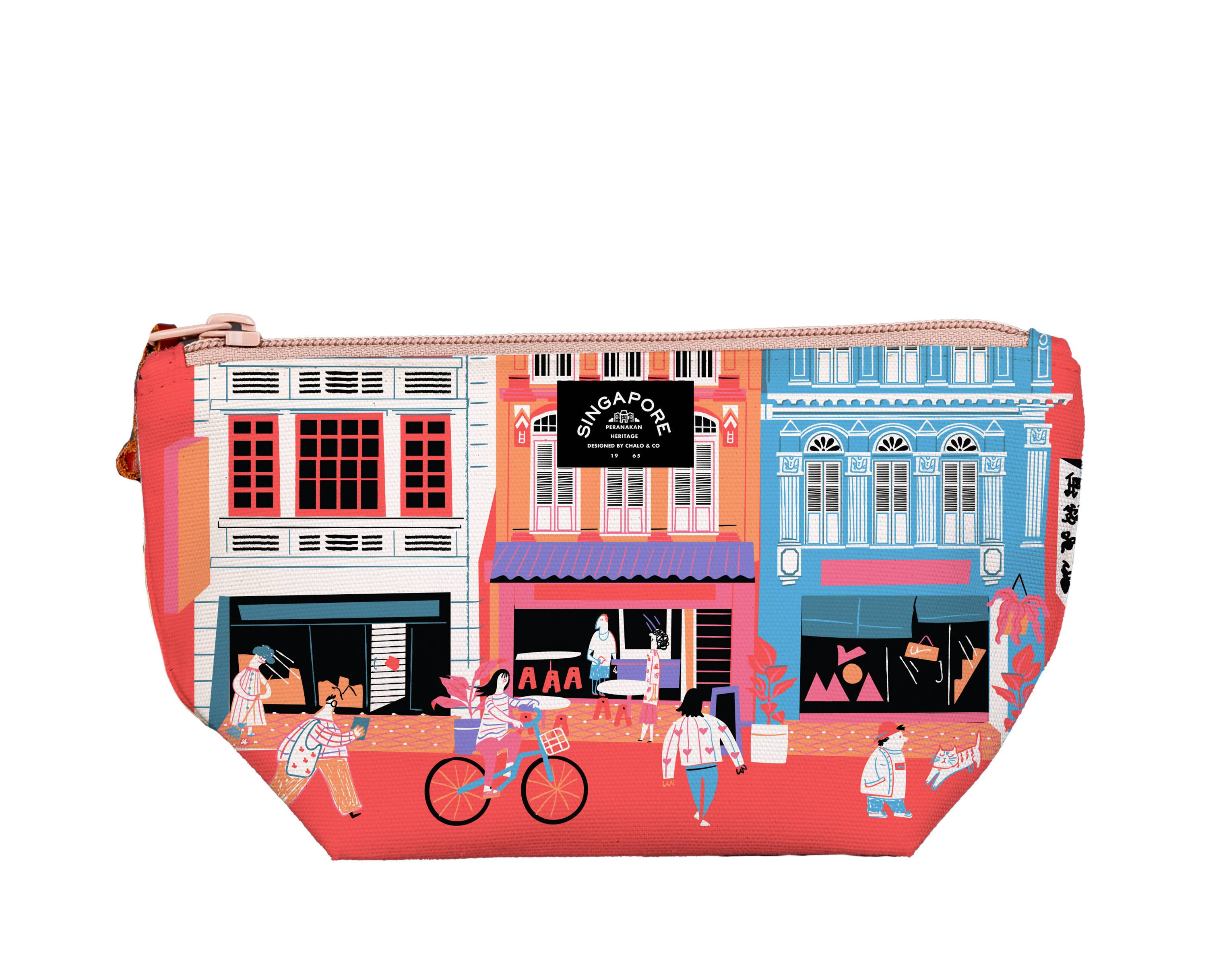 SG Shophouses Medium Pouch - Local Pouches - Chalo - Naiise