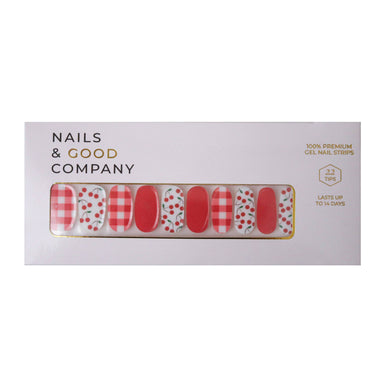 Cherry Plaids Nail Strips - Nail Wraps - Nails & Good Company - Naiise