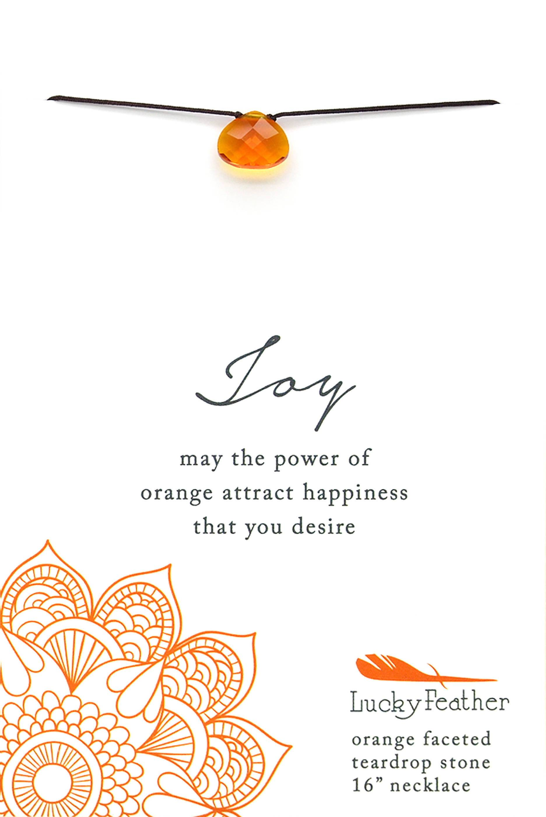 Lucky Feather - Color Power Necklace (Orange) - Necklaces - The Planet Collection - Naiise