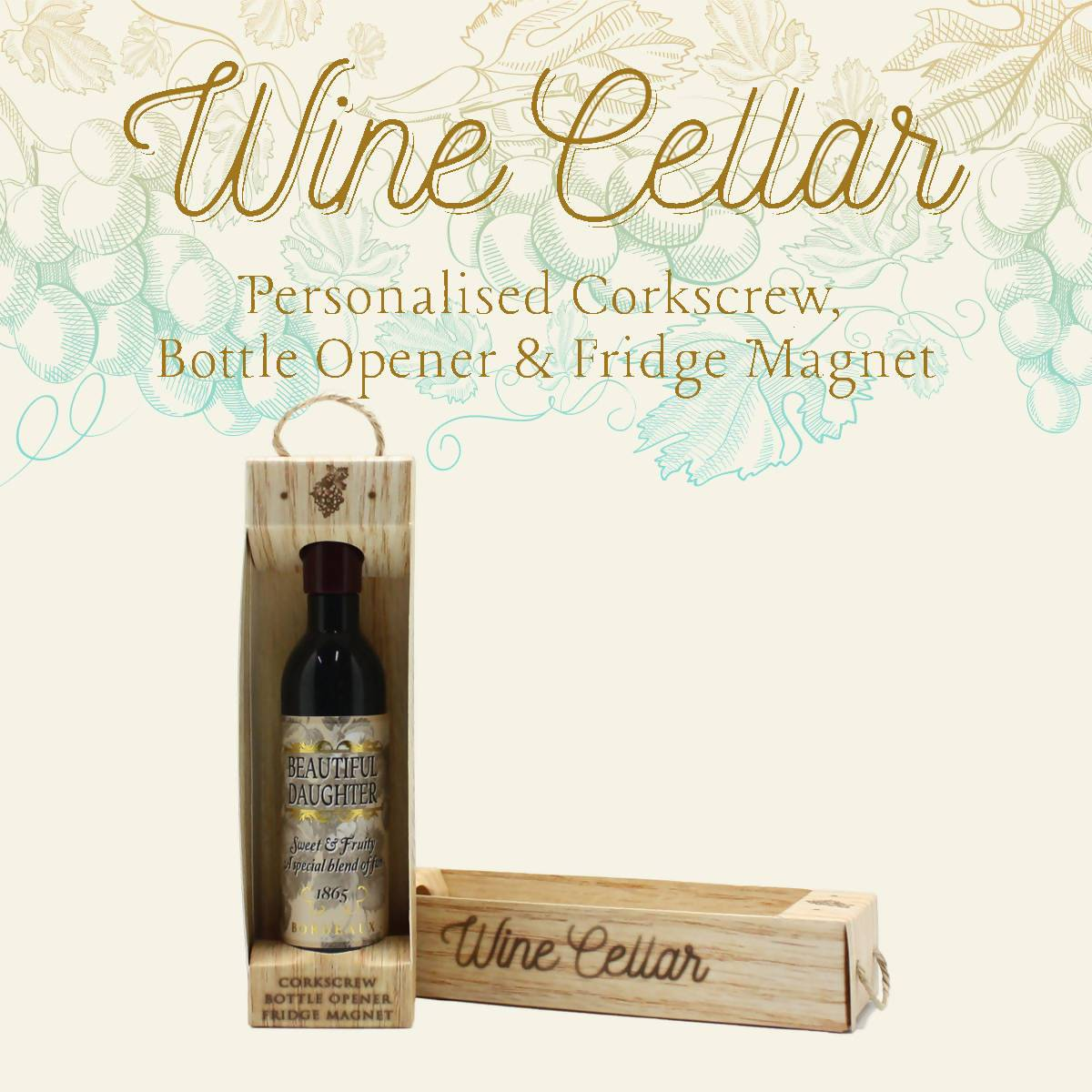WINE CELLAR - For Wine Lover : Beautiful Daughter - Bottle Openers - La Belle Collection - Naiise