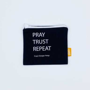 Coin pouch 11x13cm Pray Trust Repeat - Coin Pouches - The Super Blessed - Naiise