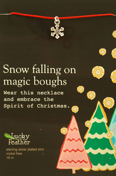 Lucky Feather - Snow Falling on Magic Boughs Necklace - Necklaces - The Planet Collection - Naiise