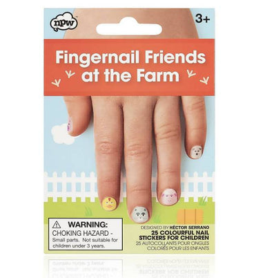 NPW - Fingernail Friends At The Farm Nail Wraps - Nail Wraps - The Planet Collection - Naiise