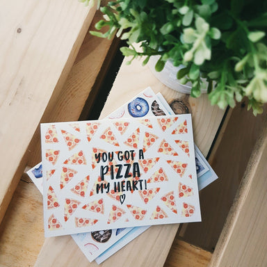 A Pizza My Heart Card - Love Cards - Peonies In Print - Naiise
