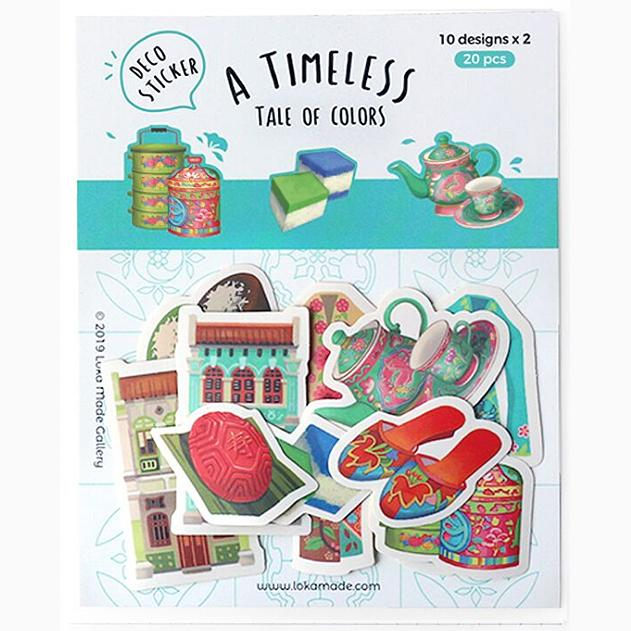 A Timeless Tale of Colours Deco Sticker Pack - Local Postcards - Little Red Box - Naiise
