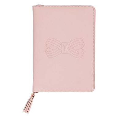 A5 Tassel Folio Pink Notebook Notebooks TED BAKER