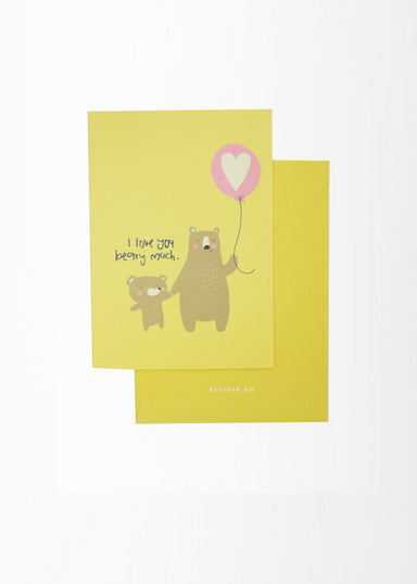 A6 Baby Card - Bear - New Baby Cards - Actseed Co. - Naiise