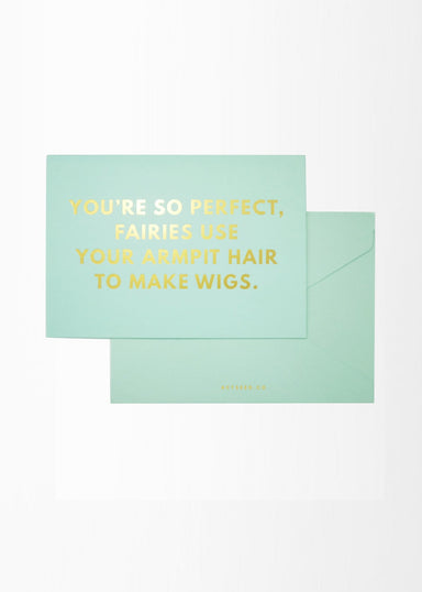 A6 Compliment Card - Armpit Hair - Friendship Cards - Actseed Co. - Naiise