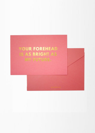 A6 Compliment Card - Forehead - Friendship Cards - Actseed Co. - Naiise