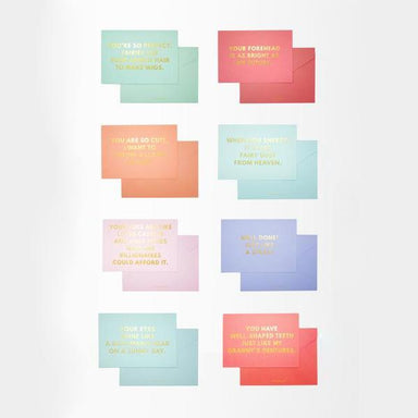 A6 Compliment Cards (Set of 8) - Friendship Cards - Actseed Co. - Naiise