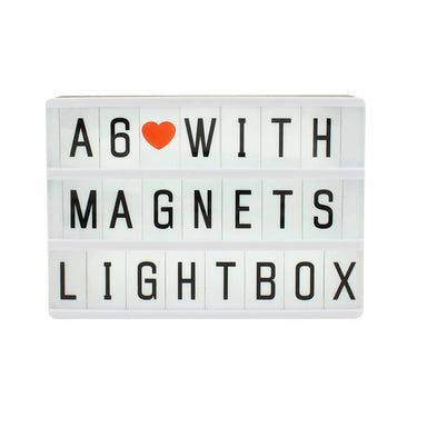 A6 Magnetic Message Lightbox Black New Arrivals Zigzagme
