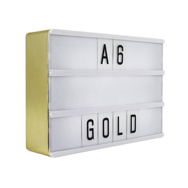A6 Magnetic Message Lightbox Gold New Arrivals Zigzagme