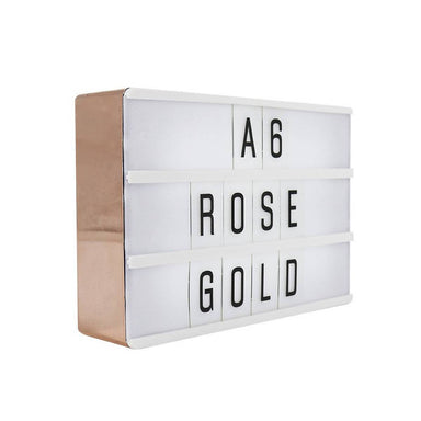 A6 Magnetic Message Lightbox Rose Gold New Arrivals Zigzagme
