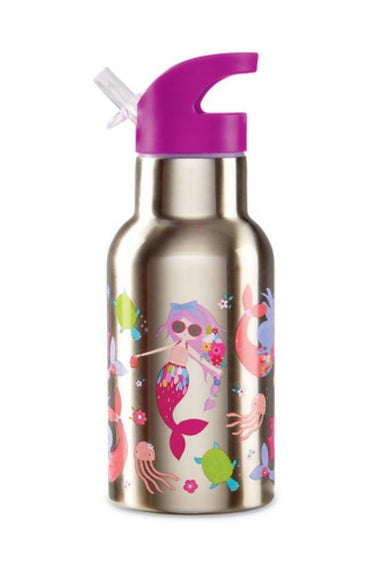 Crocodile Creek Stainless Bottle - Mermaids - Kids Bottles - The Children's Showcase - Naiise
