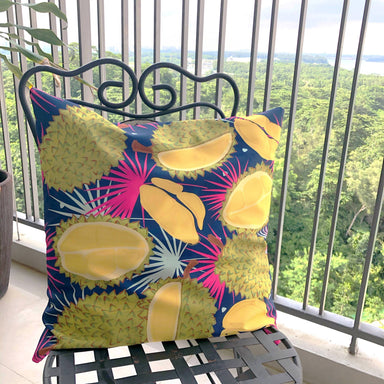 Cushion Cover - Durians Blue - Local Cushion Covers - Changi Chowk - Naiise