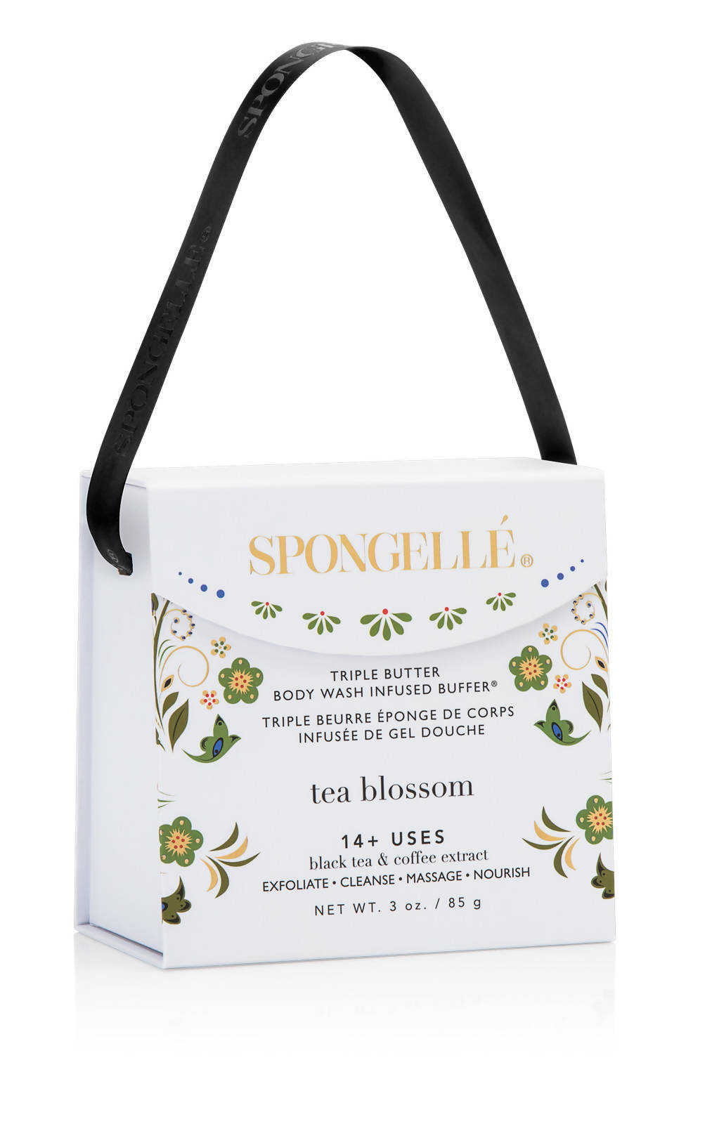 Tea Blossom | Romanticism - Body Wash Infused Buffer - Body Scrubs - Spongellé - Naiise