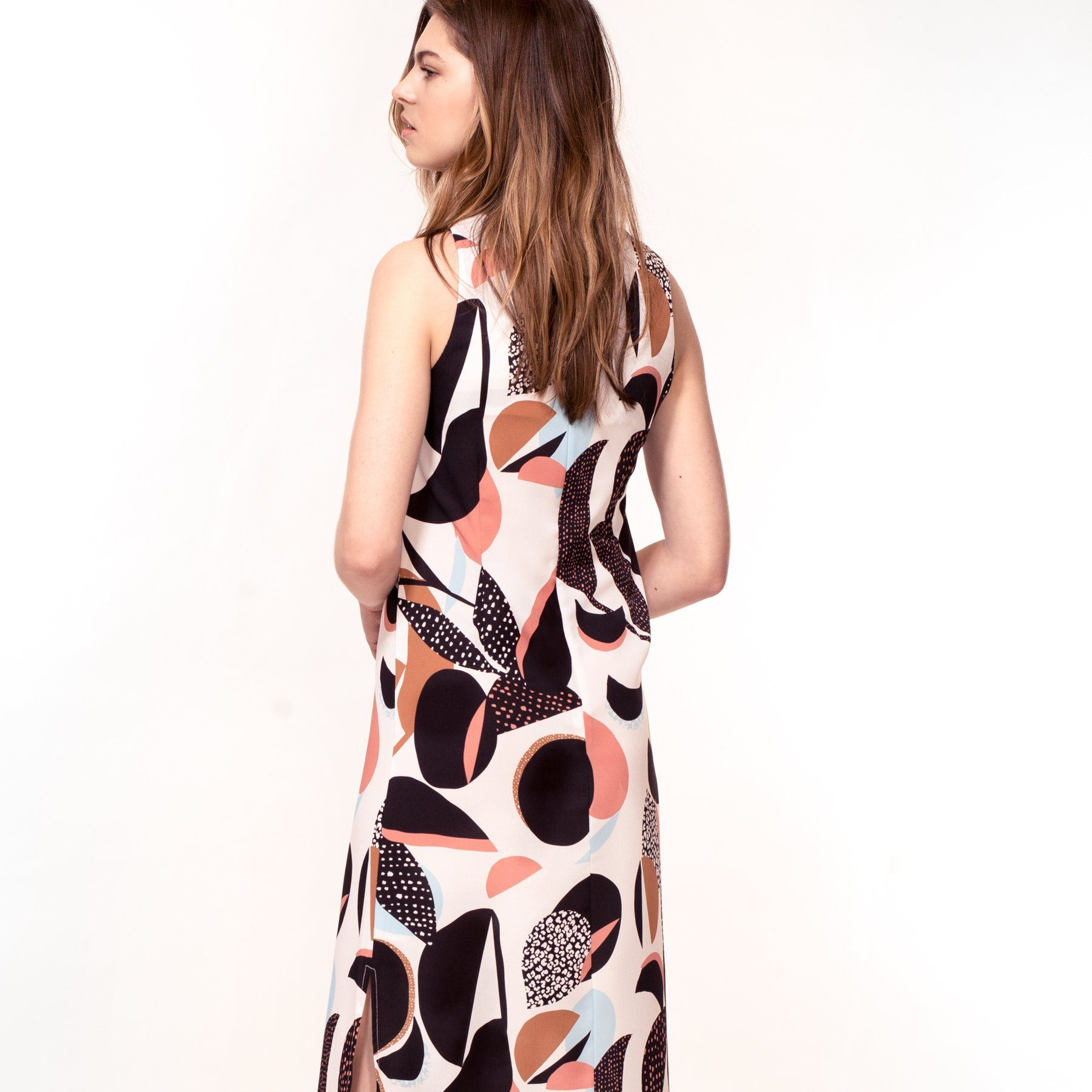 Abstract Floral Print Dress (Pre-Order) - Dresses - Hide The Label - Naiise