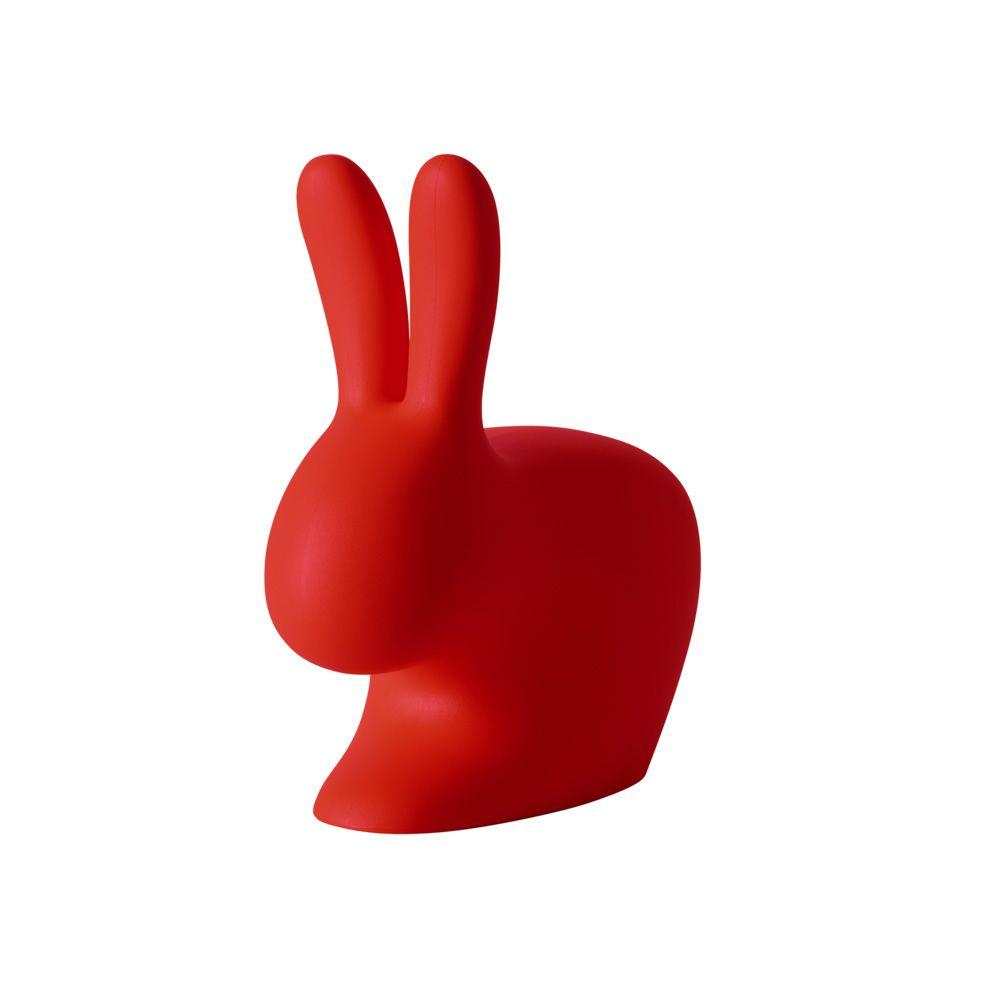 Adult Rabbit Chair Seating Qeeboo Red