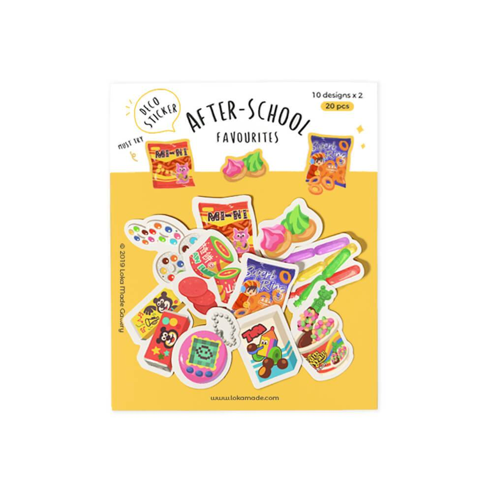 After-School Favourites Deco Sticker Pack Local Postcards Little Red Box