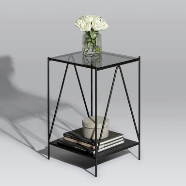 Aiffel Pedestal Table (Black Glass) (Pre-Order) - Tables - Snap Design Co - Naiise