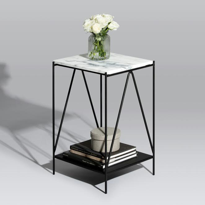 Aiffel Pedestal Table (White Marble) (Pre-Order) - Tables - Snap Design Co - Naiise