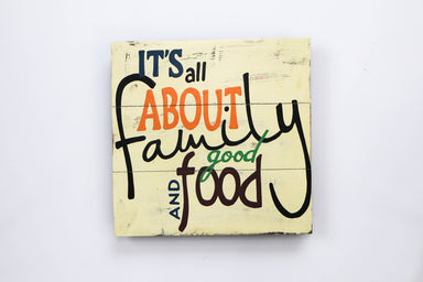 All About Family and Good Food Wall Art - WWS010 Art RAW