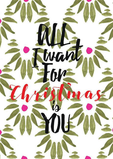 All I Want for Christmas is You Postcard - Postcards - The Paper Happiness - Naiise