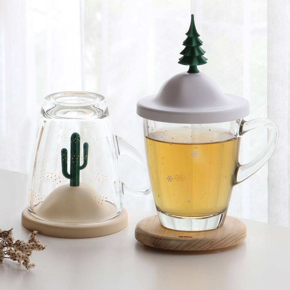 All Seasons Glass Mug and Lid/Holder Mugs Qualy