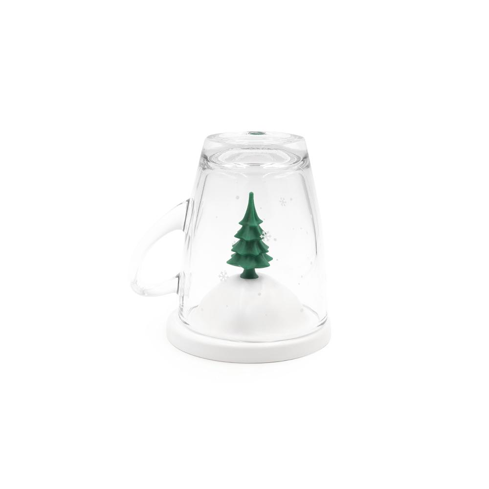 All Seasons Glass Mug and Lid/Holder Mugs Qualy Winter