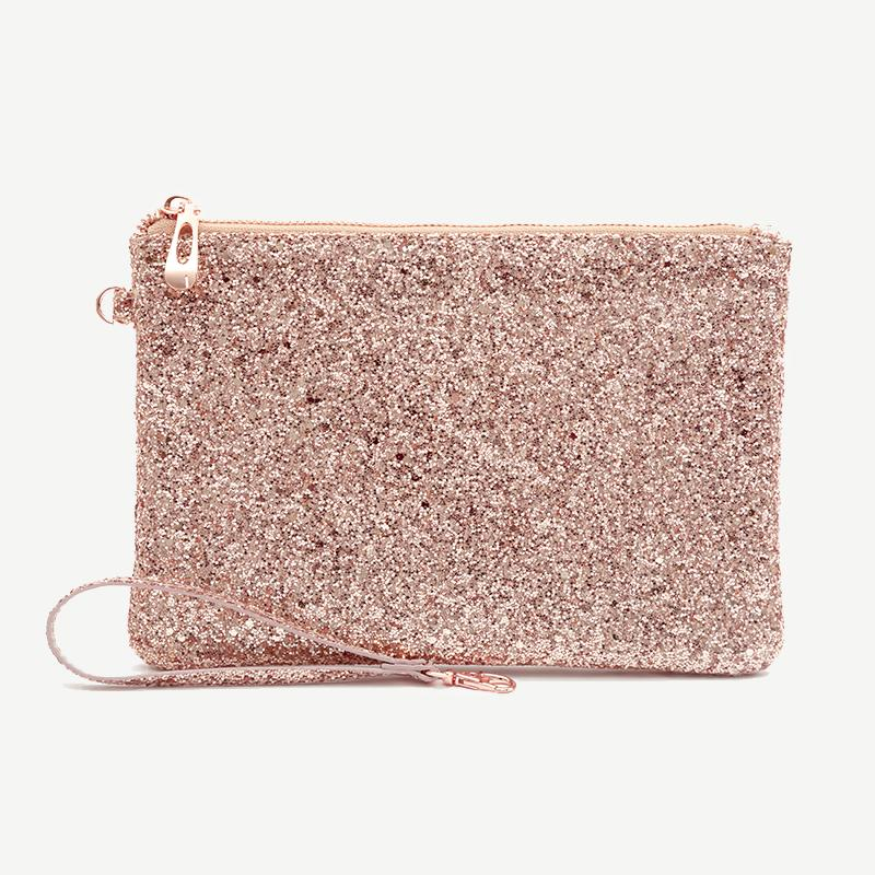 All That Glitters - Pouch - Rose Gold Sequin Pouches Go Stationery
