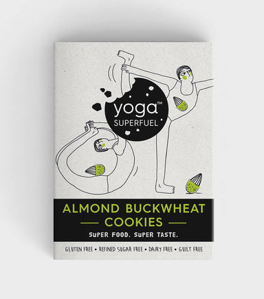 Almond Buckwheat Cookies (Vegan, Gluten Free) Healthy Superfood Snack - Cookies - Yoga Superfuel - Naiise