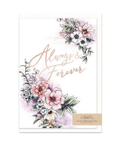 Always And Forever Card Wedding Cards Typoflora