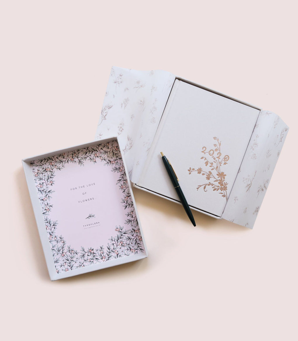 Always Flower 2020 Cream Planner Planners Typoflora