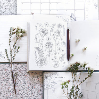 Always Flower 2020 Emerald Planner Planners Typoflora