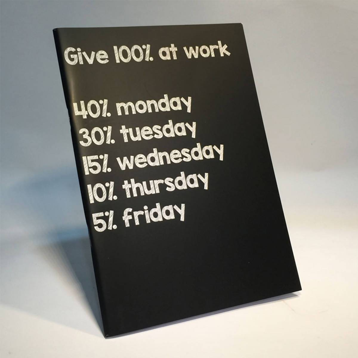 Ameba Notebook - Give 100% At Work - New Arrivals - Zigzagme - Naiise