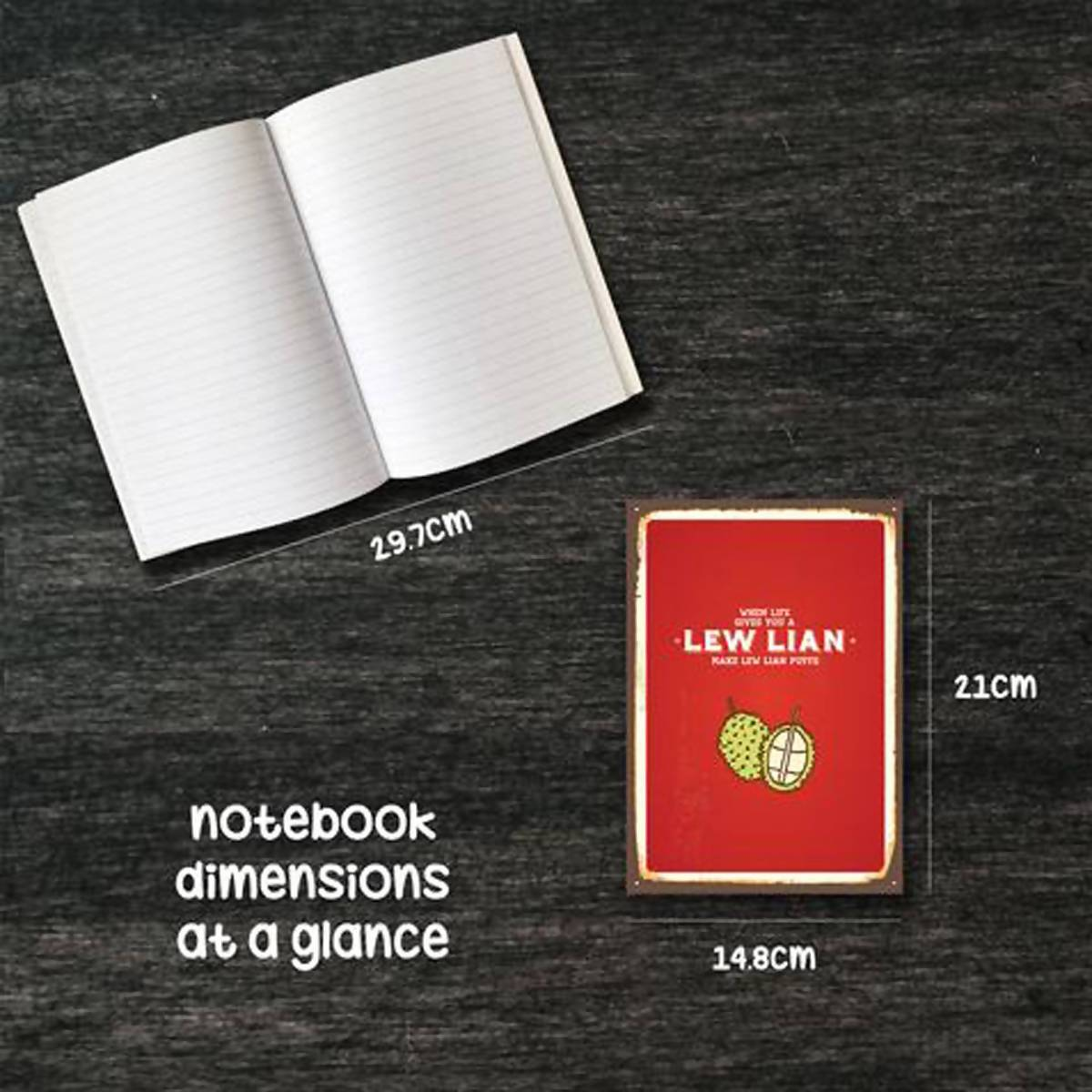 Ameba Notebook - When Life Gives You A Lew Lian - New Arrivals - Zigzagme - Naiise