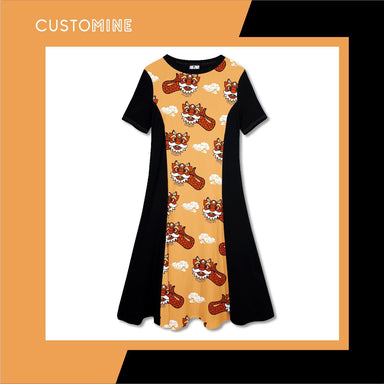 Ang Ang Merlion Dance Dress Dresses CUSTOMINE S Orange