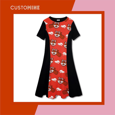 Ang Ang Merlion Dance Dress Dresses CUSTOMINE S Red