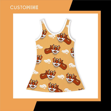 Ang Ang Merlion Girl's Dance Dress Local Baby Clothing CUSTOMINE 2-3Y Orange