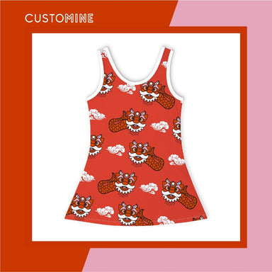 Ang Ang Merlion Girl's Dance Dress Local Baby Clothing CUSTOMINE 2-3Y Red