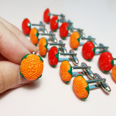 Ang Ku Kuih Cufflinks Local Cufflinks TinyPinc Miniatures