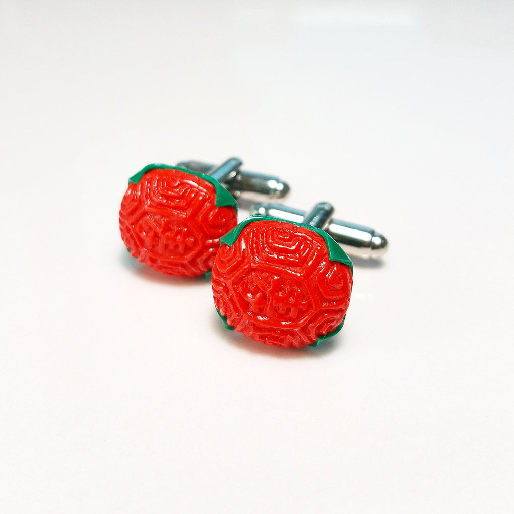 Ang Ku Kuih Cufflinks Local Cufflinks TinyPinc Miniatures Red
