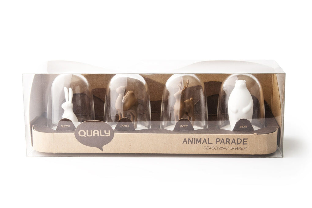 Animal Parade Seasoning Shaker Set Seasoning Holders Qualy