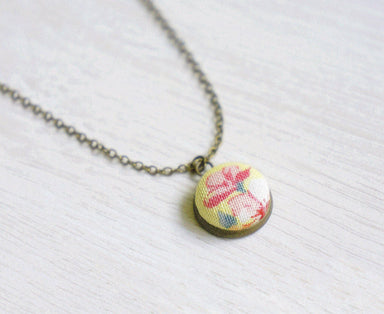Annabeth Rose Handmade Fabric Button Necklace - Necklaces - Paperdaise Accessories - Naiise