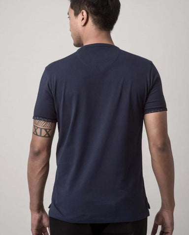 Asanoha Midnight Blue Dappergami Plain Tee ATSS1513 - Men's T-shirts - Cut & Paste - Naiise